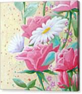 Rose Diptych 2  Canvas Print