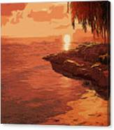 Rose From The Sea Canvas Print