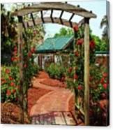 Rose Garden Entrance Canvas Print