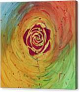 Rose In Vorteks Canvas Print