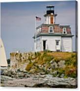 Rose Island Light Canvas Print