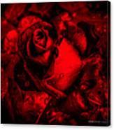 Furious Rose Magic Red Canvas Print