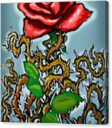 Rose N Thorns Canvas Print
