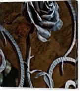Rose Of Iron Canvas Print