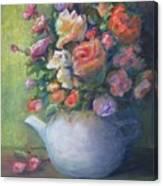 Rose Petal Tea Pot Canvas Print