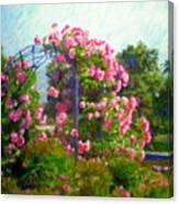 Rose Trellis Canvas Print