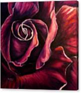 Rose Violet Canvas Print