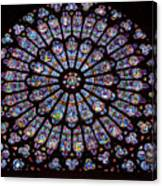 Rose Window At Notre Dame Cathedral Paris Canvas Print