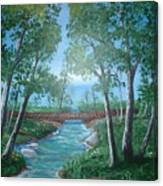 Roseanne And Dan Connor's River Bridge Canvas Print