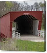 Roseman Covered Bridge - Madison County - Iowa Canvas Print