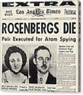 Rosenberg Execution, 1953 Canvas Print