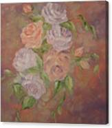 Roses All Aglow Canvas Print