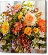 Roses And  Flowers  Canvas Print