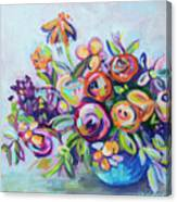 Roses And Kumquats Canvas Print