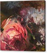 Roses And Lilacs Canvas Print
