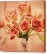 Roses And Tulips Canvas Print