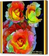 Roses For Anne Catus 1 No. 3 V A With Decorative Ornate Printed Frame. Canvas Print