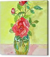 Roses For Dorothy Canvas Print