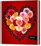 Roses For My Dear Love Canvas Print