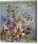 Roses In A Window Canvas Print