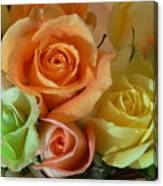 Roses In Pastel Canvas Print