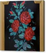 Roses In The Classic Style Canvas Print