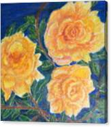 Roses In Yellow Canvas Print