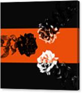 Roses Interact With Orange Canvas Print