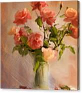 Roses La Belle Canvas Print