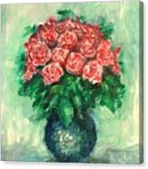 Roses Oil Painting  Canvas Print