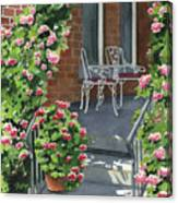Roses On High St Canvas Print