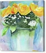Roses Row Canvas Print