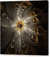 Rosette In Gold And Silver Canvas Print