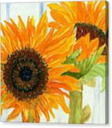 Rosezella's Sunflowers Canvas Print