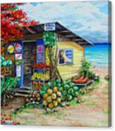 Rosies Beach Cafe Canvas Print