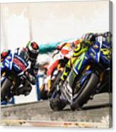 Rossi Leading The Pack Canvas Print