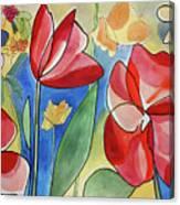 Rosso Fiori Canvas Print