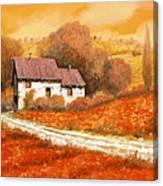 Rosso Papavero Canvas Print