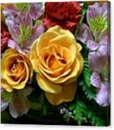 Rosy Bouquet Canvas Print