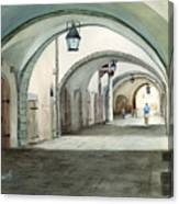 Rothenburg Backstreet Canvas Print