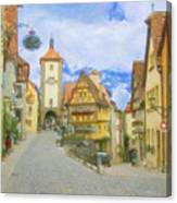 Rothenburg Watercolor Study Canvas Print
