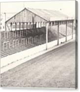 Rotherham - Millmoor - Millmoor Lane Stand 1 - Bw - April 1970 Canvas Print
