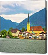 Rottach Egern On Tegernsee Architecture And Nature View Canvas Print