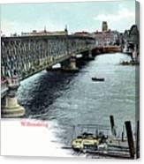 Rotterdam Oude Willemsbrug 1890 Canvas Print