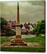 Rottingdean War Memorial And Village Common Canvas Print