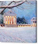 Rotunda On A Snowy Night Canvas Print