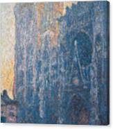 Rouen Cathedral, The Portal, Morning Canvas Print