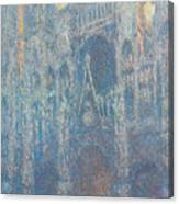 Rouen Cathedral, The Portal, Morning Light Canvas Print