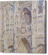 Rouen Cathedral, The Portal, Sunlight Canvas Print