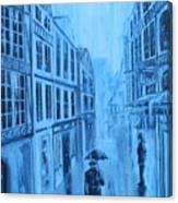 Rouen In The Rain Canvas Print